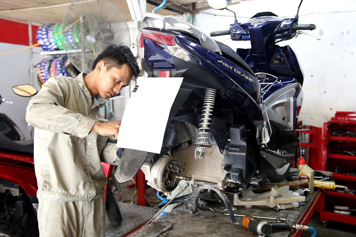 bảo dưỡng xe máy mototech