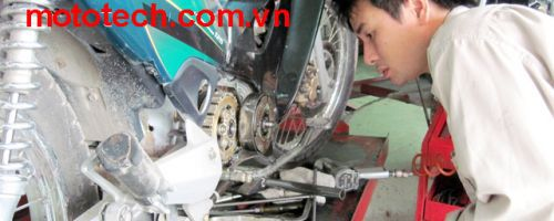 The process Standard of motorcycle maintenance at MotoTech