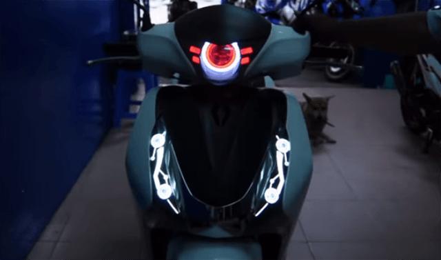 độ đèn xe sh